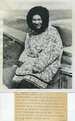 Eskimo beauty queen Alaska antique photo