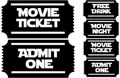 2 or 4 movie tickets new wall art mural theater room projector cinema decals