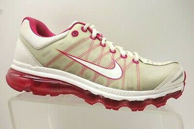 6c051900cb Nike Air Max Pink White Athletic Sport Lace Up Running Shoes Women's 8.5