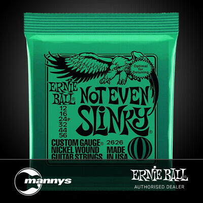 Ernie Ball Not Even Slinky Nickel Wound Electric Guitar Strings - (12-56)