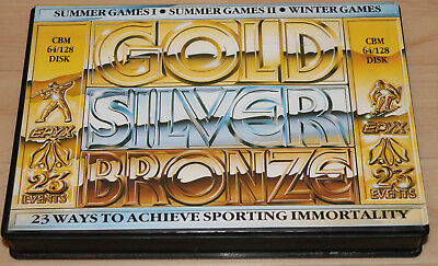 epyx Gold Silver Bronze Commodore 64 C64 Leerbox!