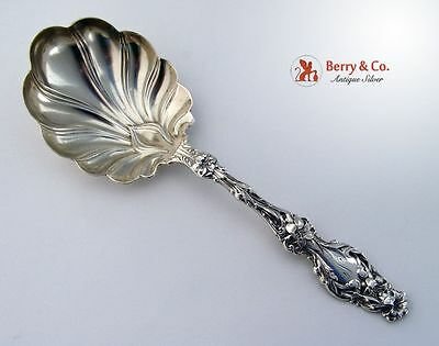 Lily Small Berry Spoon Sterling Silver Whiting 1902 Mono N