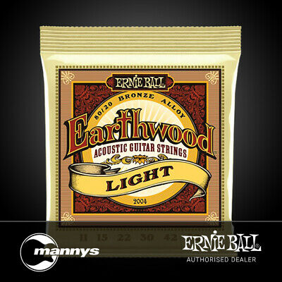 Ernie Ball 2004 Earthwood Light 80/20 Bronze Acoustic Guitar Strings - 11-52 Gau