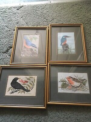 4 Woven Picture Silk By J & J Cash, Coventry, Framed Under Glass