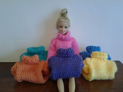 Hand Knitted Barbie/Sindy Dolls  Chunky Jumper Or  Skirt...