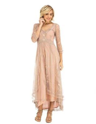 Victorian Trading Co Nataya Tea Party Garden Dress Pink Large