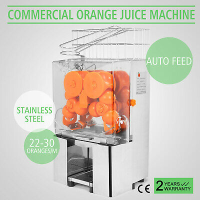 Electric Commercial Stainless Steel Orange Juicer Squeezer Juice Machine