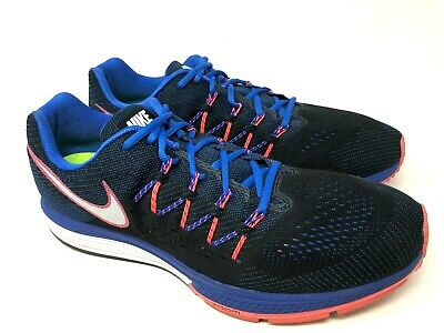 5053ee73f384 Nike Air Zoom Vomero 10 Mens Blue Orange Running Athletic Shoes Size 13