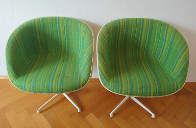 2 x La Fonda Shell Chairs by Charles & Ray Eames for Herman Miller/Vitra
