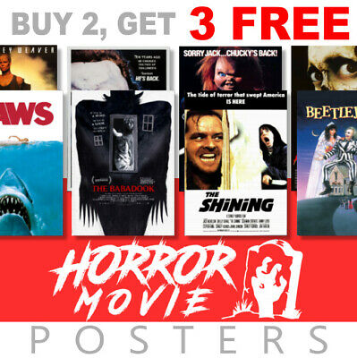 Scary Horror Movie Posters, A4, A3 270gsm Poster, Prints, Art