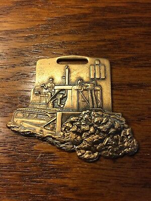 Vintage IH Dozer Watch Key Fob Bark River Equipment Co Michigan (IS-669)