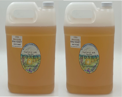 1 OR 2 gallons raw HONEY - BUY IN BULK AND SAVE- Snowberry - Wildflower