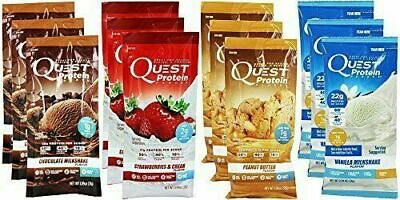 Quest Nutrition Powder Protein Shake Packets 12-Pack Variety Flavors
