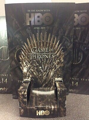 Game Of Thrones 3D brochure with Throne (Great with Pop Figure!) LIMITED!