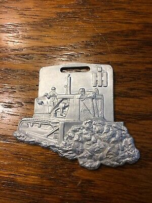 Vintage IH Dozer Watch Key Fob Herman Brown Equipment Iowa Illinois (IS-674)