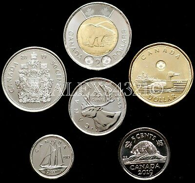 🇨🇦​Canada 2019 Complete Coin Set 5 Cents To 2 Dollars Uncirculated (6 Coins)