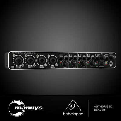 UMC404HD BEHRINGER U-PHORIA 4x4 Audio Interface - DJ City Australia