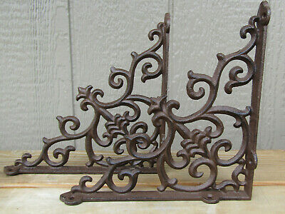 Hooks, Brackets & Curtain Rods 2 ARCHITECTURAL GOTHIC RENAISSANCE Cast Iron SHELF BRACKETS WALL CORNER BRACKETS