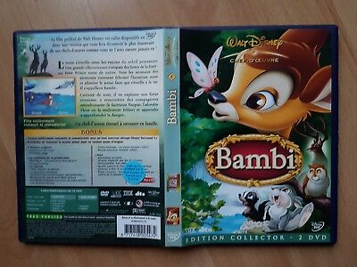DVD ENFANT DISNEY BAMBI COLLECTOR 2 DVD famille amis aventures faon forêt no lot