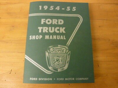 1954-55 Ford F100 Shop Manual Reparaturanleitung F-100 Truck