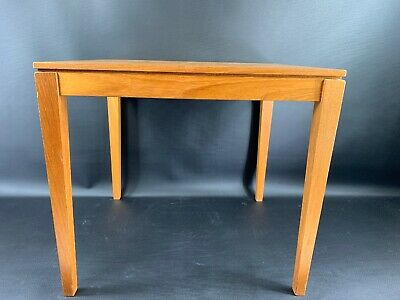 Bent Silberg Mid Century Modern Teak Made In Denmark Mobler End Table Stamped