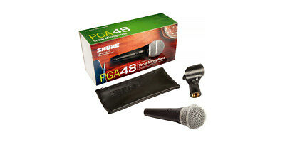Shure PGA48-XLR wired handheld microphone with 15ft XLR Cable,bag & clip New
