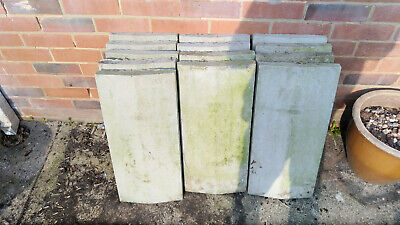 COPING STONE CAST APEX CONCRETE 606mm x 285mm x 50mm - 13 IN TOTAL