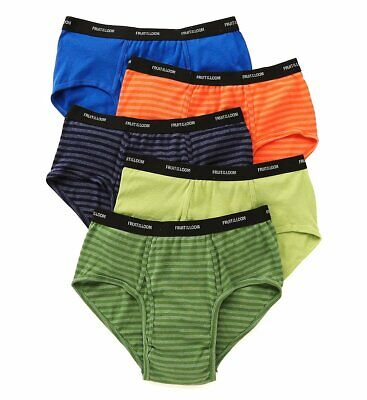Fruit Of The Loom 5P4619X Extended Size Stripes & Solids Briefs - 5 Pack