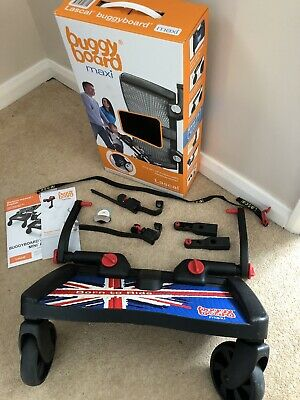 Lascal Buggy Board Maxi Union Jack (Connectors Uncut) Barely Used