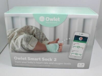 Owlet Smart Sock 2 Baby Heart Rate & Oxygen Level Health Monitor NEW in BOX!!