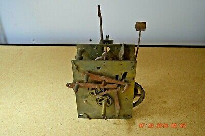 Antique Original GRANDFATHER CLOCK CHAIN DRIVEN MOVEMENT for project or parts