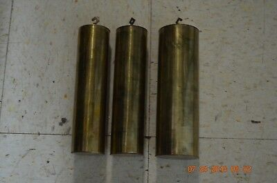 GRANDFATHER CLOCK WEIGHTS FOR 9 TUBE MOVEMENT set of 3 for project