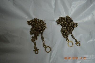 ANTIQUE GUSTAV BECKER GRANDFATHER CLOCK CHAINS set of 2 for project