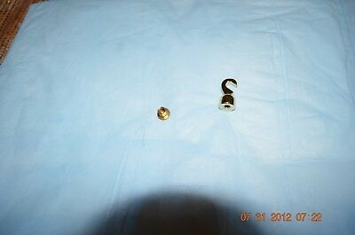 GRANDFATHER CLOCK BRASS HOOK for WEIGHT set of 1