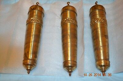 Antique Gustav Becker Grandfather Clock Weights set of 3 for project
