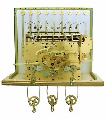 HERMLE 1171-890 9 TUBE GRANDFATHER CLOCK MOVEMENT only for project