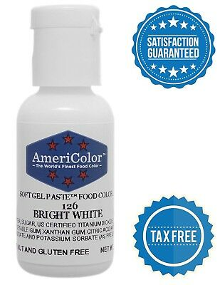 AMERICOLOR SOFT GEL Paste Food Color 6-Ounce Bright White US ...