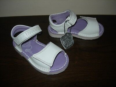 Kickers Girl's Infant Shoes Sandals Adlar San White Leather Uppers Eu 25 / Uk 8
