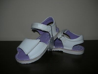 Kickers Girl's Junior Shoes Sandals Adlar San White Leather Uppers Eu 30 / Uk 12