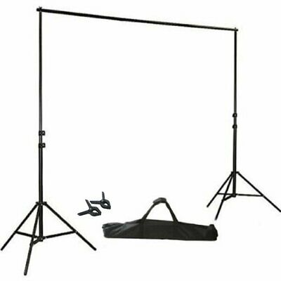 8ft x10ft Height Adjustable Photo Video Studio Crossbar Kit Photography Stand