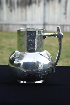 Late Victorian F. B. Rogers Silver Co. Taunton MA Water Jug Pitcher