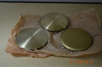 Grandfather clock pendulum bobs set of 3 for parts or project
