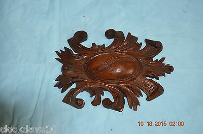 Vintage Wood Ornament for Grandfather Clock for project or parts set of 1