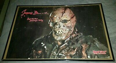 """1988 """"FRIDAY THE 13TH PART 7:THE NEW BLOOD"""" Vintage Horror JASON UNMASKED POSTER"""