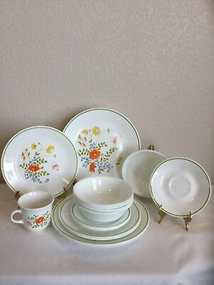 Corelle By Corning Wildflower 17 Pc Set Dinnerware Dinner Salad Plates Bowls Cup