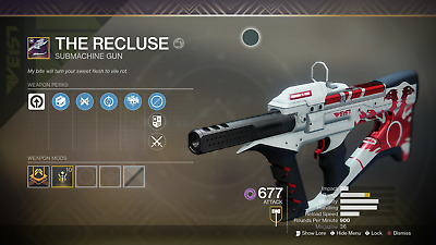 Destiny 2 season 6 Recluse ACCOUNT RECOVERY Xbox 1 0-2100 plus triumph 1-3 days