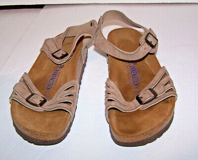 90e75888955 BIRKENSTOCK WOMENS BALI Sandals Leather Buckle Classic Footbed White ...