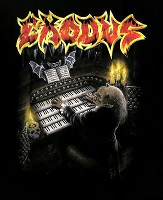 EXODUS cd cvr TEMPO OF THE DAMNED Official SHIRT LRG New pentagram