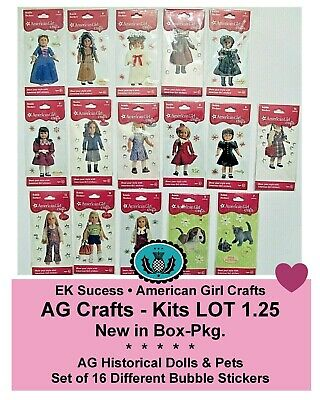 American Girl Crafts_Historical Dolls Bubble Stickers_Classic Set_LOT of 16_NEW