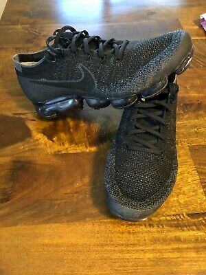 Nike Air Vapormax Flyknit Black Anthracite Dark Grey Size 11